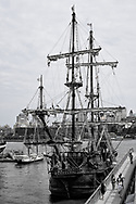 El Galeón – a 170-foot, 495-ton authentic wooden replica of a Spanish galleon, at South Street Seaport