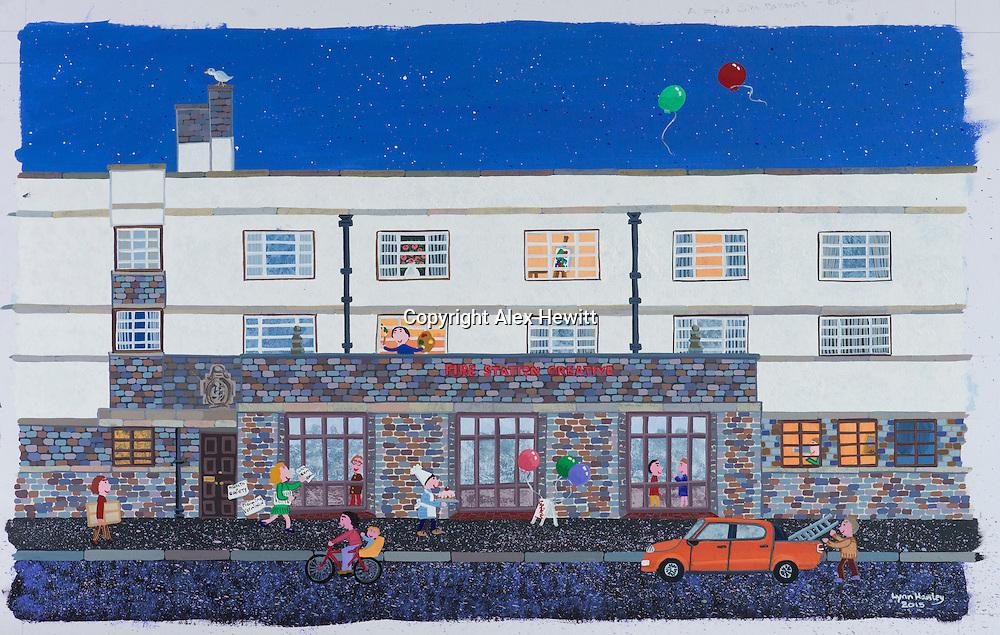 Lynn Hadley art copywork<br /> <br /> picture by Alex Hewitt<br /> alex.hewitt@gmail.com<br /> 07789 871540