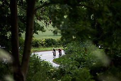 Sarah Roy (AUS) and Femke Markus (NED) on the categorised climb at Stage 4 of 2019 OVO Women's Tour, a 158.9 km road race from Warwick to Burton Dassett, United Kingdom on June 13, 2019. Photo by Sean Robinson/velofocus.com