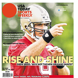 USA TODAY SPORTS WEEKLY 2014 Cover - Drew Brees - Saints
