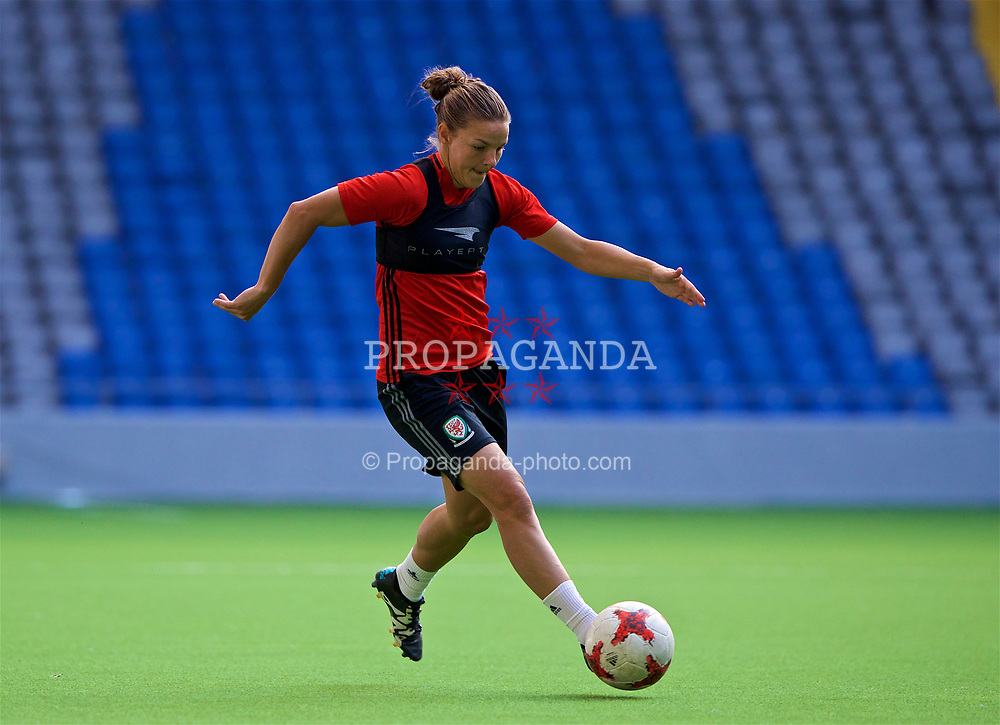 ASTANA, KAZAKHSTAN - Friday, September 15, 2017: Wales' Loren Dykes training at the Astana Arena ahead of the FIFA Women's World Cup 2019 Qualifying Round Group 1 match against Kazakhstan. (Pic by David Rawcliffe/Propaganda)