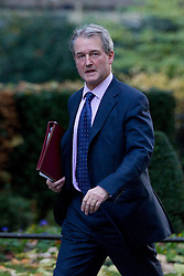 © Licensed to London News Pictures. 26/11/2013. London, UK. The Environment Secretary, Owen Paterson, arrives for a meeting of British Prime Minister David Cameron's Cabinet on Downing Street in London today (26/11/2013). Photo credit: Matt Cetti-Roberts/LNP