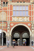 The ornate entrance to the Rijksmuseum in Amsterdam, The Netherlands