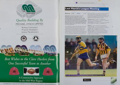 All Ireland Senior Hurling Championship Final,.08.09.2002, 09.08.2002, 8th September 2002,.Senior Kilkenny 2-20, Clare 0-19,.Minor Kilkenny 3-15, Tipperary 1-7,.8092002AISHCF,.Michael Lynch Limited,