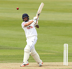 Hampshire's Gareth Berg pulls a shot - Photo mandatory by-line: Robbie Stephenson/JMP - Mobile: 07966 386802 - 23/06/2015 - SPORT - Cricket - Southampton - The Ageas Bowl - Hampshire v Somerset - County Championship Division One