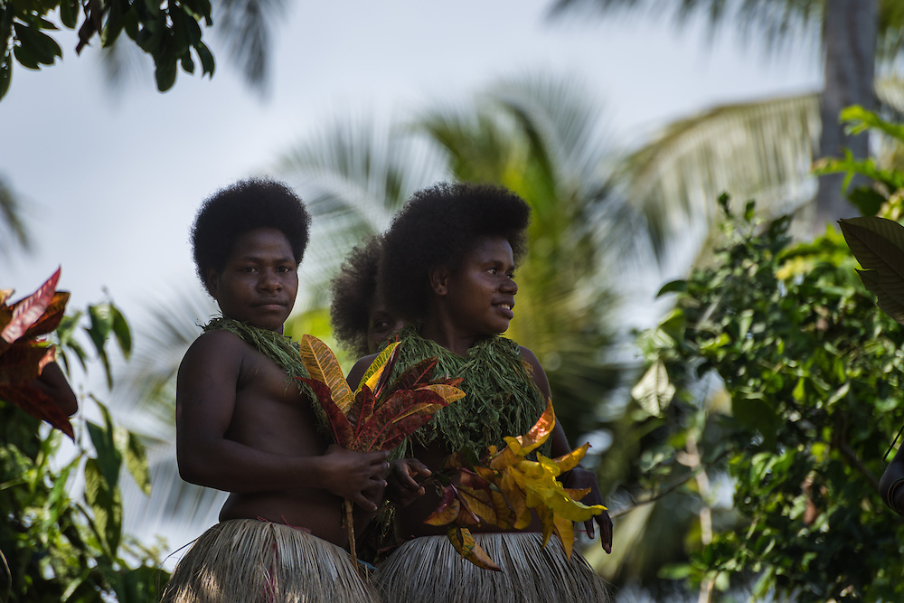 Women at a ceremony just before land diving, Pentecost, Vanuatu.