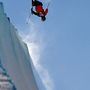 Kiyoshi Terada, Japan, in action in the Halfpipe Finals during The North Face Freeski Open at Snow Park, Wanaka, New Zealand, 3rd September 2011. Photo Tim Clayton...