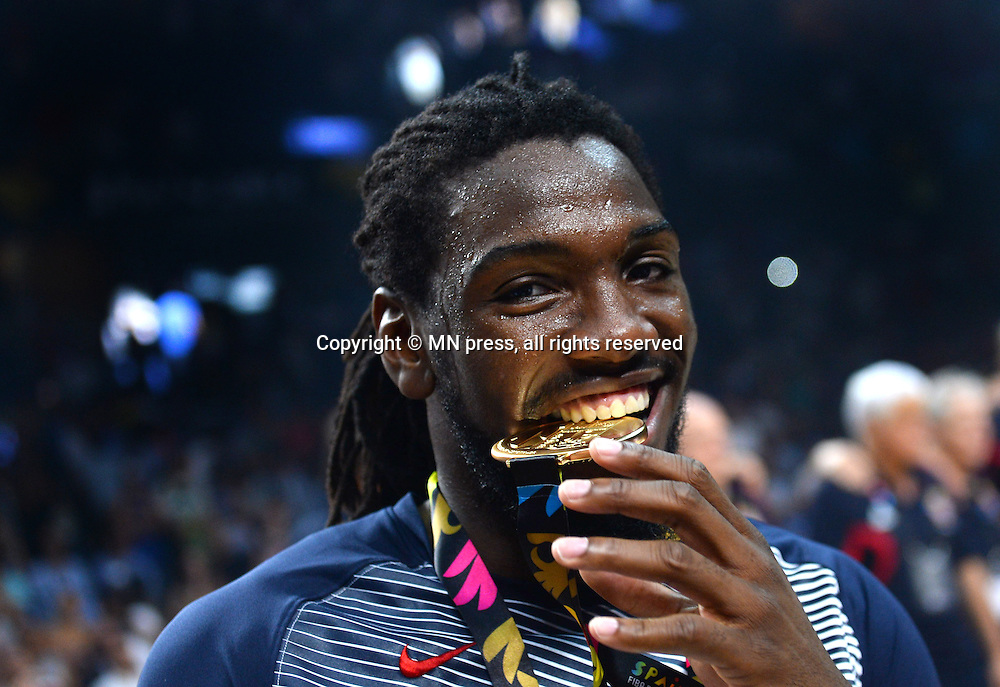KENNETH FARIED of United states of America basketball team in action during Final FIBA World cup match against Serbia, Madrid, Spain Photo: MN PRESS PHOTO<br /> Basketball, Serbia, United states of America, Final, FIBA World cup Spain 2014