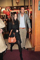 PIPPA MIDDLETON and CHARLIE GILKES at the gala opening night of Cirque du Soleil's Varekai at the Royal Albert Hall, London on 5th January 2010.