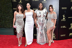 Tamera Mowry, Loni Love, Jeannie Mai and Adrienne Bailon attend the 45th annual Daytime Emmy Awards at Pasadena Civic Auditorium on April 29, 2018 in Pasadena, California. Photo by Lionel Hahn/ABACAPRESS.COM