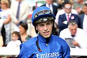 Jockey James Doyle during the Ebor Festival at York Racecourse, York, United Kingdom on 23 August 2019.