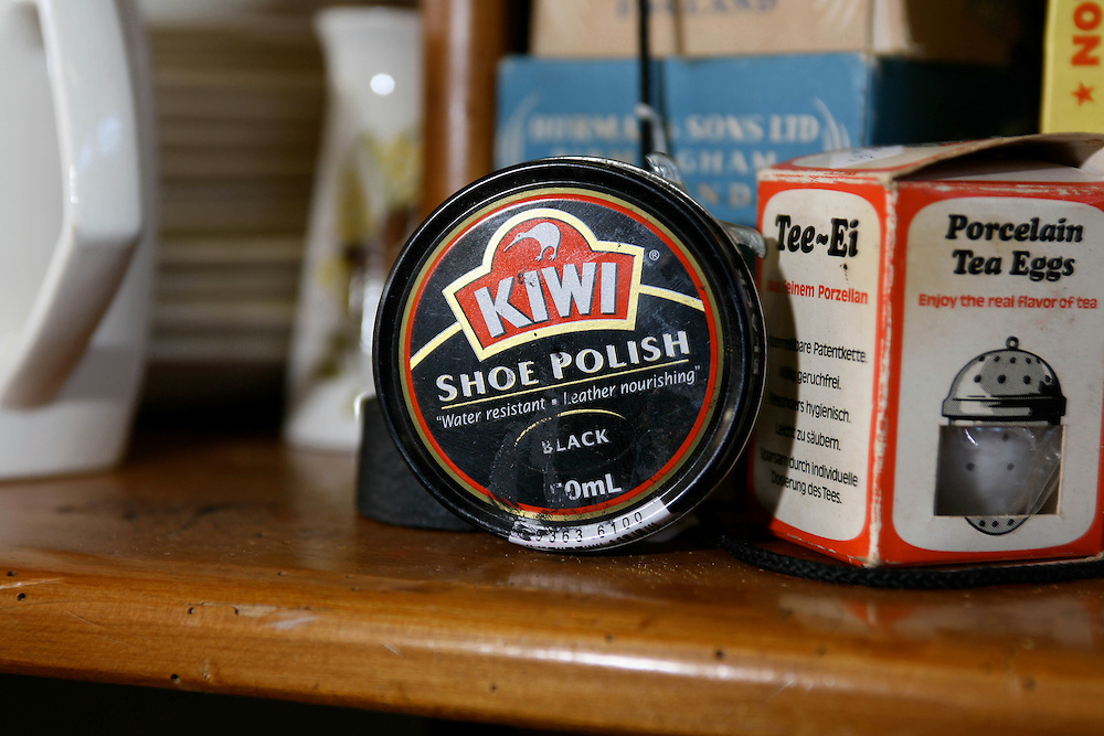 A classic New Zealand brand, a tin of Kiwi shoe polish, Opunake, New Zealand, May 19, 2007. Credit:SNPA / Rob Tucker