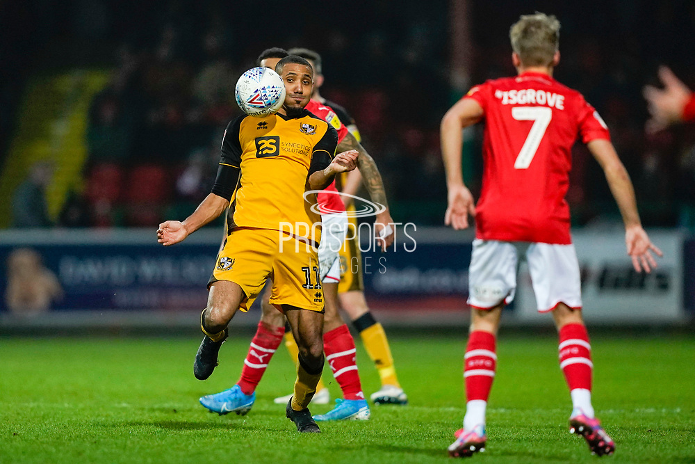 Cristian Montaño of Port Vale in action during the EFL Sky Bet League 2 match between Swindon Town and Port Vale at the County Ground, Swindon, England on 25 January 2020.