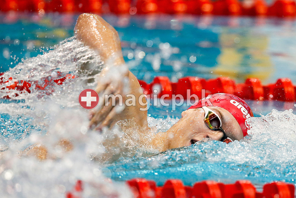 Wojciech WOJDAK of Poland competes in the men's 400m Freestyle Heats during the 18th LEN European Short Course Swimming Championships held at the Wingate Institute in Netanya, Israel, Wednesday, Dec. 2, 2015. (Photo by Patrick B. Kraemer / MAGICPBK)