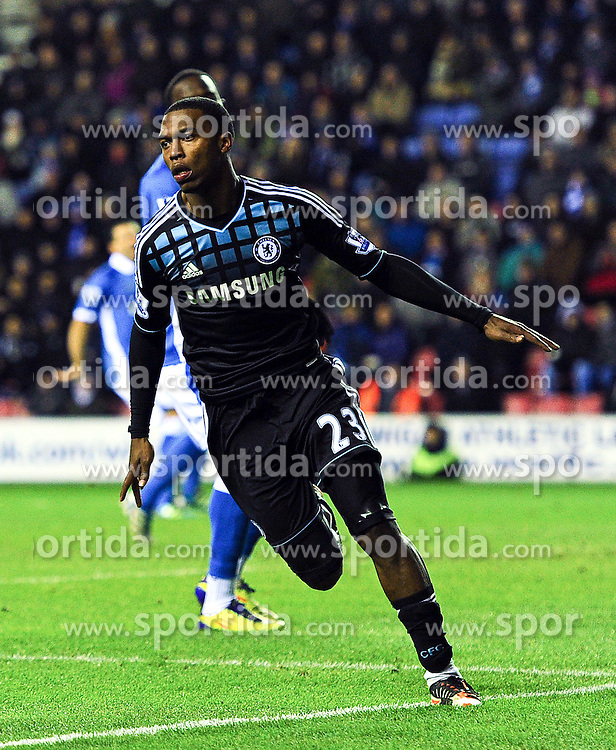 17.12.2011, Stamford Bridge Stadion, London, ENG, PL, FC Chelsea vs Wigan Athletic, 16. Spieltag, im Bild Chelsea's Daniel Sturridge celebrates scoring the opening goal during the football match of English premier league, 16th round, between FC Chelsea and Wigan Athletic at Stamford Bridge Stadium, London, United Kingdom on 2011/12/17. EXPA Pictures © 2011, PhotoCredit: EXPA/ Propagandaphoto/ Chris Brunskill..***** ATTENTION - OUT OF ENG, GBR, UK *****