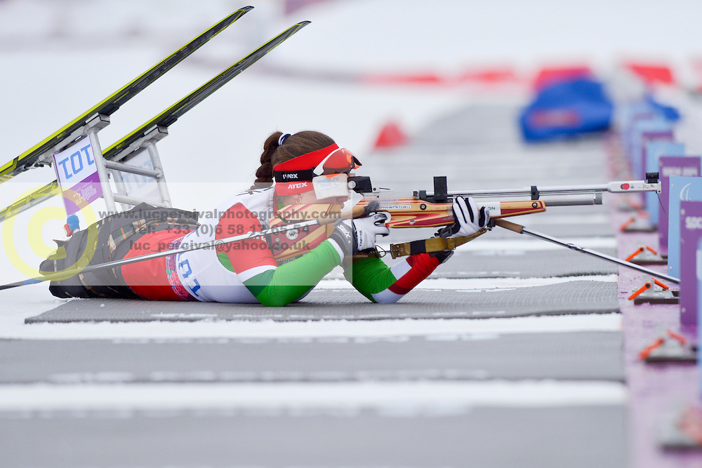 HRAFEYEVA Lidziya, Biathlon at the 2014 Sochi Winter Paralympic Games, Russia