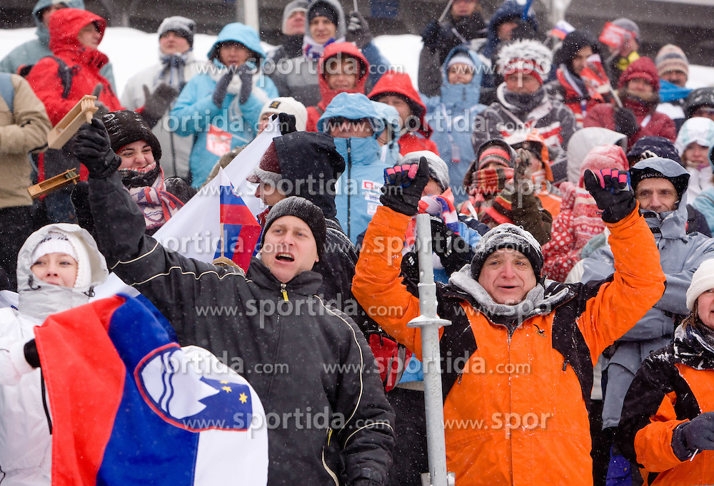 Fans at Free Sprint Competition of Viessmann Cross Country FIS World Cup Rogla 2009, on December 19, 2009, in Rogla, Slovenia. (Photo by Vid Ponikvar / Sportida)