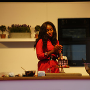 Chef Cynthia Stroud demonstration at The Chocolate Show, at the Olympia exhibit center in London on October 13, 2017 is the ultimate celebration of all things cocoa-related.