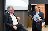 ZEIST - NGF themadag 2016.  gastspreker Ole Skarin (Zweedse Golf Federatie) met  NGF President Willem Zelsmann.   Copyright KOEN SUYK