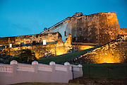 "Castillo de San Cristóbal, or ""Saint Christopher Castle"" , the largest military structure built by the Spanish in the Americas, Old Town San Juan, Puerto Rico"