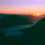 Sunrise over the Buchaille Etive Mor in Glencoe, central highlands, Scotland