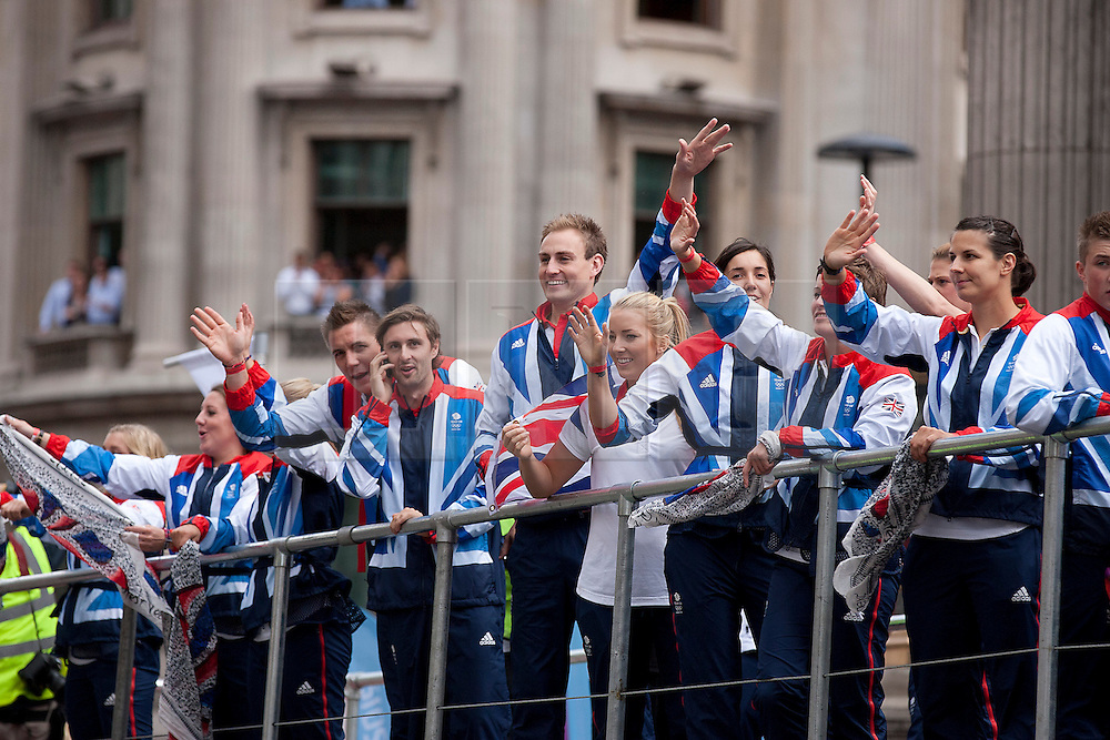 © Licensed to London News Pictures. 10/09/2012. LONDON, UK. British Olympic and Paralympic athletes are seen near Bank Station in London today (10/09/12) as they take part in a parade in their honour. Photo credit: Matt Cetti-Roberts/LNP