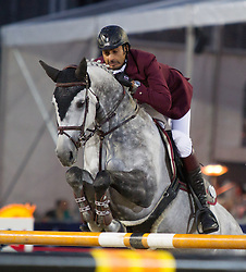 22.09.2012, Rathausplatz, Wien, AUT, Global Champions Tour, Vienna Masters, Grosser Preis von Wien, im Bild Ali Bin Khalid Al Thani (QAT) auf Eurocommerce California// during Vienna Masters of Global Champions Tour, Grand Prix of Vienna at the Rathausplatz, Vienna, Austria on 2012/09/22. EXPA Pictures © 2012, PhotoCredit: EXPA/ Sebastian Pucher
