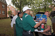 President McDavis & Mrs. McDavis Greeting students & families during Student Move in Day on 8/31/06...Mother Linda Duplechian, and daughter Jenna Duplechian