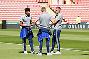 Players of Leicester City arrive for the Premier League match between Sheffield United and Leicester City at Bramall Lane, Sheffield, England on 24 August 2019.