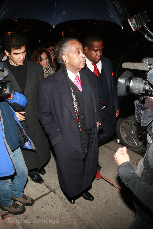 Rev. Al Sharpton at Sylvia's Restuarant, where a gathering of Influential African-American Politicians called by Rev. Al Sharpton,  decide resolution of the fate of Governor David Patterson on March 4, 2010 in Harlem, New York City.