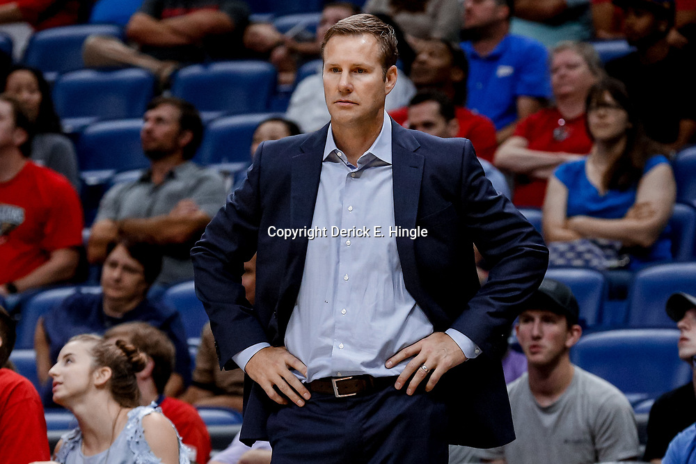 Oct 3, 2017; New Orleans, LA, USA; Chicago Bulls head coach Fred Hoiberg against the New Orleans Pelicans during the second half of a NBA preseason game at the Smoothie King Center. The Bulls defeated the Pelicans 113-109. Mandatory Credit: Derick E. Hingle-USA TODAY Sports