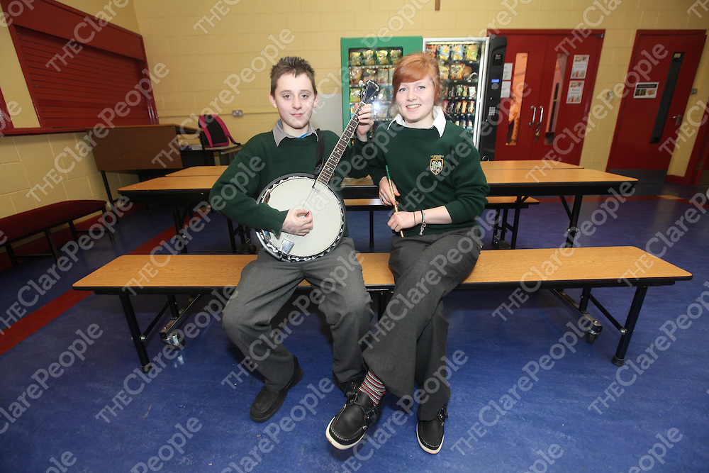Ronan Duggan and Orlaith McInerney pictured at Kilmihils St Michaels Community School on Monday.<br /> Pic. Brian Arthur/ Press 22.