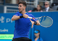 Tennis - 2017 Aegon Championships [Queen's Club Championship] - Day Four, Thursday <br /> <br /> Men's Singles: Round of 16 - Daniil MEDVEDEV (RUS) Vs Thanasi KOKKINAKIS (AUS)<br /> <br /> Thanasi Kokkinakis (AUS) at Queens Club<br /> <br /> COLORSPORT/DANIEL BEARHAM