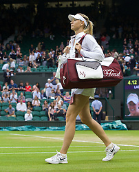 28.06.2014, All England Lawn Tennis Club, London, ENG, WTA Tour, Wimbledon, im Bild Maria Sharapova (RUS) walks onto court before her Ladies' Singles 3rd Round match on day six // 15065000 during the Wimbledon Championships at the All England Lawn Tennis Club in London, Great Britain on 2014/06/28. EXPA Pictures © 2014, PhotoCredit: EXPA/ Propagandaphoto/ David Rawcliffe<br /> <br /> *****ATTENTION - OUT of ENG, GBR*****
