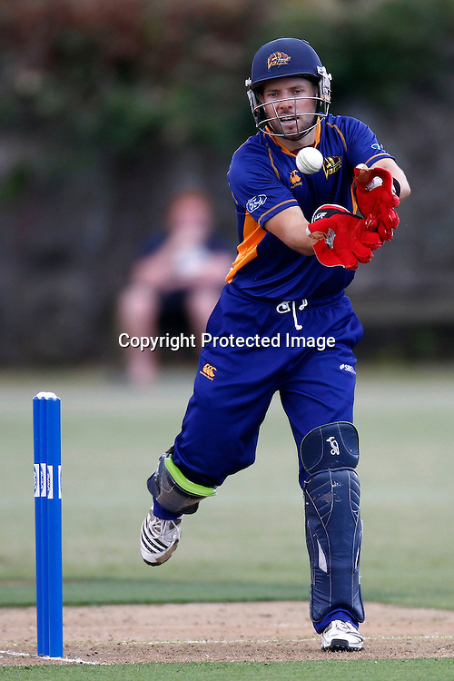 Wicket Keeper Derek de Boorder during the Ford Trophy match between the Auckland Aces v Otago Volts. Preliminary Final, Men's domestic 1 day cricket. Colin Maiden Park, New Zealand. Wednesday 8 January 2012. Ella Brockelsby / photosport.co.nz