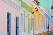 Harmonious pastel colors of Norzagaray Street homes
