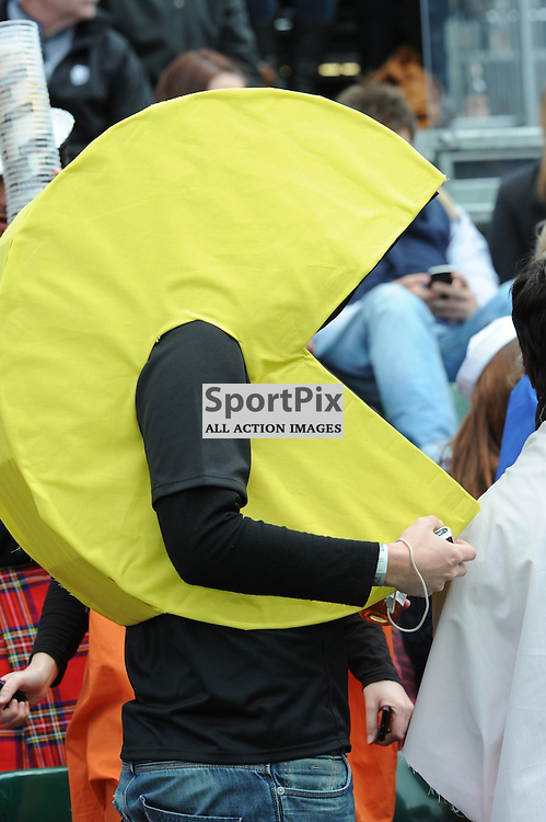 Fans in the fun stand at the Emirates Airlines Glasgow 7s at Scotstoun Stadium 5th / 6th May 2012 .Lorraine Hill : STOCKPIX
