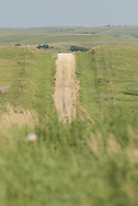 lonley road in rural kansas