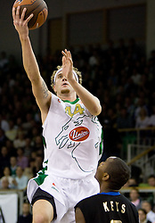 Matt Walsh (44) of Olimpija at Euroleague basketball match between KK Union Olimpija, Ljubljana and Maroussi B.C., Athens, on October 29, 2009, in Arena Tivoli, Ljubljana, Slovenia.  (Photo by Vid Ponikvar / Sportida)