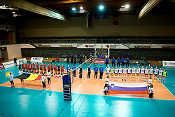 Volleyball match between National teams of Slovenia and Belgium in 4th Qualification Round of 2019 CEV Volleyball Women's European Championship, on August 25, 2018 in Sports hall Tabor, Maribor, Slovenia. Photo by Urban Urbanc / Sportida