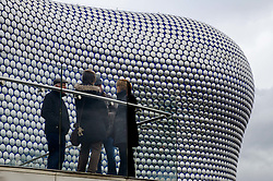 People chatting outside the Bullring in Birmingham, England UK<br /> <br /> (c) Andrew Wilson | Edinburgh Elite media