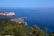 View of Dragonera from Reserva Biológica de la Trapa, Sant Elm, Mallorca, Balearic Islands, Spain