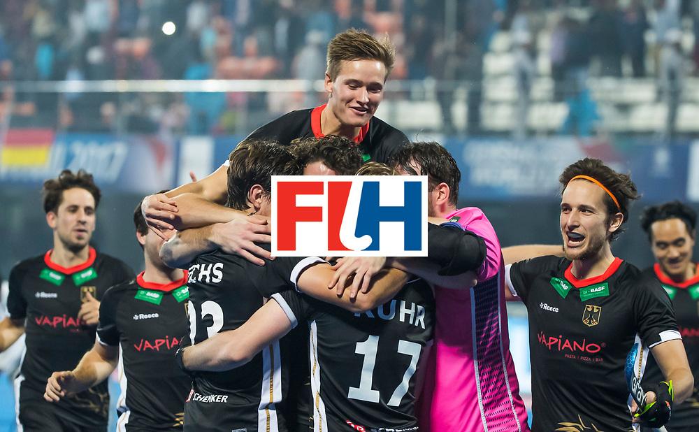 BHUBANESWAR - Duitsland wint  tijdens de Hockey World League Finals , de kwartfinale wedstrijd Duitsland-Nederland (3-3).Duitsland wint na shoot-outs.    COPYRIGHT KOEN SUYK