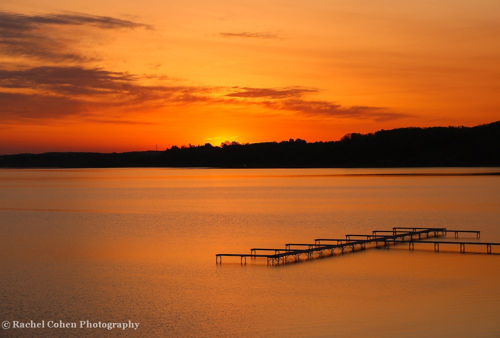 &quot;Grand Beach Sunrise&quot;<br /> <br /> Gorgeous golden and orange sunrise from Grand Beach in Traverse City Michigan!