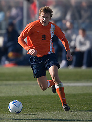 UVA forward Adam Cristman (9) advances the ball against UCLA during the Semifinal round of the 2006 College Cup.  The Bruins beat the Cavaliers with four second half goals to advance to the Finals by a score of 4-0 on Saturday, December 2, 2006 in St. Louis, MO.....University of Virginia vs. University of California Los Angeles..Hermann Stadium, St. Louis University..NCAA College Cup - Semifinals..St. Louis, MO 02-DEC-06..CREDIT: Jason O. Watson / Cavalier Daily