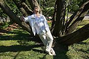 Aleksandrs Antonenko, a young Latvian star tenor with Ukranian roots, living in Riga. Relaxing in Kronvalda Park (Crown Forest Park).