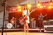Feist performs during the fourth day of the 2007 Bonnaroo Music & Arts Festival on June 17, 2006 in Manchester, Tennessee. The four-day music festival features a variety of musical acts, arts and comedians. Photo by Bryan Rinnert