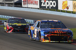 August 5, 2018 - Watkins Glen, New York, United States of America - Chase Elliott (9) brings his car through the turns during the Go Bowling at The Glen at Watkins Glen International in Watkins Glen , New York. (Credit Image: © Chris Owens Asp Inc/ASP via ZUMA Wire)