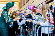 Koningin Maxima is bij de viering van twintig jaar Leidsche Rijn, de grootste nieuwbouwlocatie van N