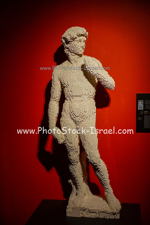 David Statue from Lego building blocks at the Holon Children's museum. Holon, Israel